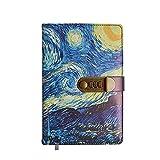 Riyyow A5 Password Lock Journal Starry Sky Notebook 240 Seiten, Notepad Tagebuch Büro Schreibwaren Notebook für Erwachsene Studenten (Color : Night Sky)