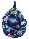 Better Dreams Childrens Bean Bags 9 Cool Designs 52cm x 52cm x 60cm High (Dinosaur)