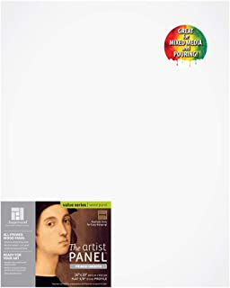 Ampersand Artist Panel Primed Smooth Surface for Painting, Pouring and Mixed-Media, 3/8 Inch Depth, 16x20 Inch (PWP9M1620)