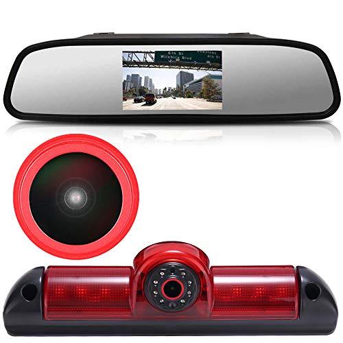 Dynavsal 【Super HD Rückfahrkamera Set】 4.3'' Rückspiegel Monitor + 170°Super Weitwinkel Bremsleuchte Rückfahrkamera für FIAT Ducato X250/ Peugeot Boxter/Citroen Jumper/Transporter Van