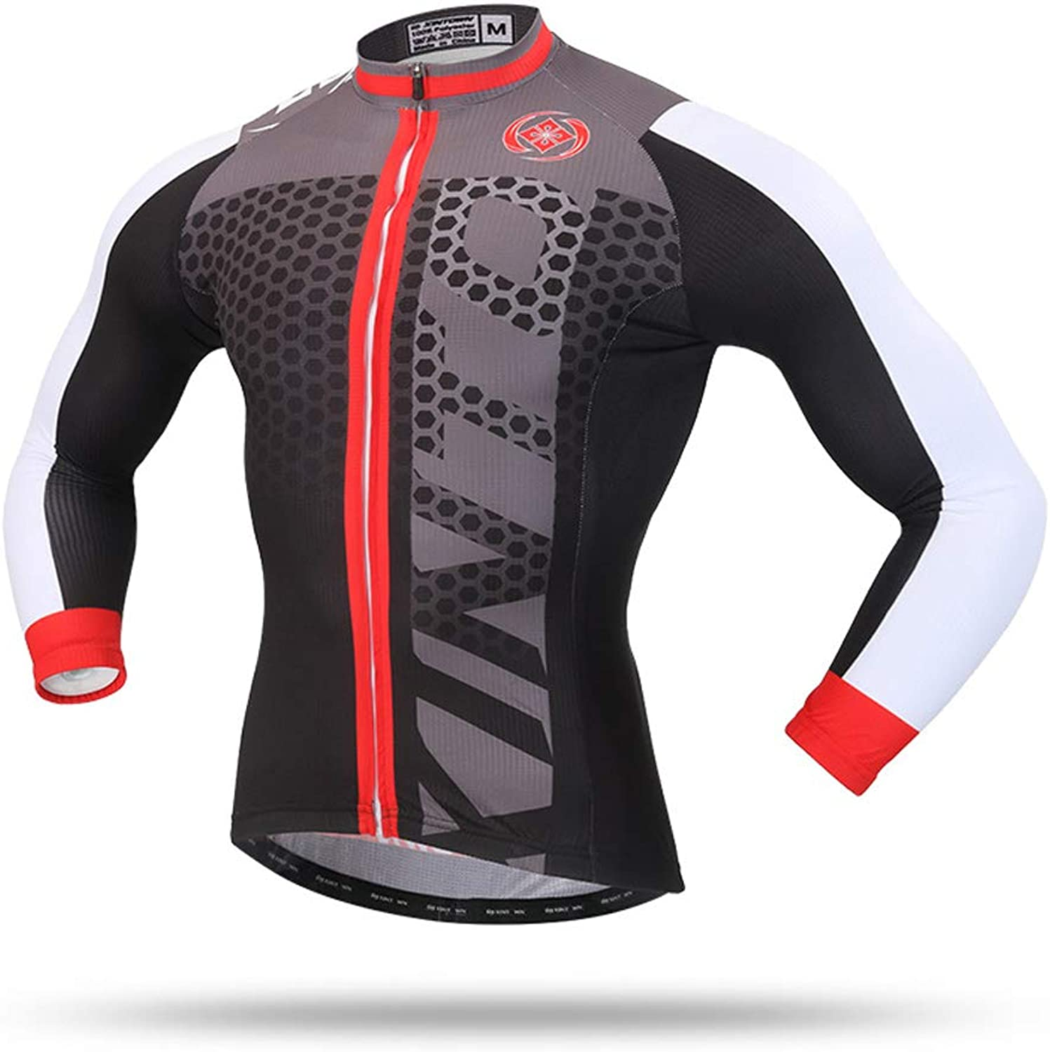 Pinjeer Men's Breathable Spring Autumn Long Sleeve Cycling Jersey MTB Bike Bicycle Shirt Clothing Quick Dry Outdoor Team Bike Riding Sportswear (Size   S)