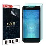 J&D Compatible para 8-Pack LG Zone 4 / LG Aristo 2 / LG Tribute Dynasty/LG K8 2018 / LG Fortune 2 Protector de Pantalla, [NO Cobertura Completa] Película Transparente HD Protector de Pantalla