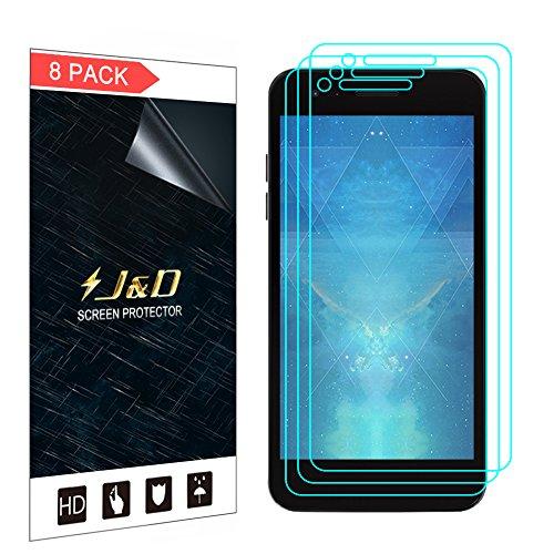 JundD Kompatibel für 8er Set LG Zone 4 / LG Aristo 2 / LG Tribute Dynasty/LG K8 2018 / LG Fortune 2 Bildschirm Schutzfolie, [Ganze Deckung] Premium HD-Clear Schutzfolie für LG Zone 4