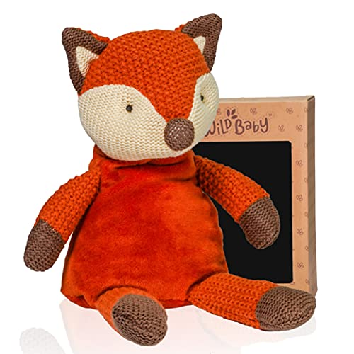 WILD BABY Fox Stuffed Animal - Heatable Microwavable Plush Pal with Aromatherapy Lavender Scent for Kids - 12'