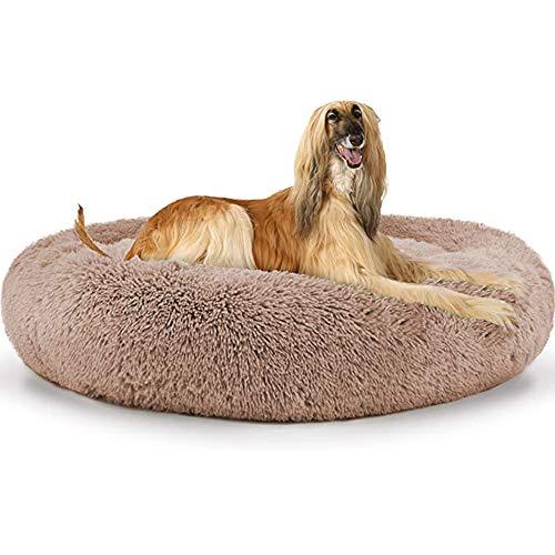 HANHAN Super suave calmante perro cama Cuddler antiansiedad ortopédico extra grande donut...