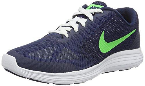 Nike Herren Revolution 3 Laufschuhe, Blau (Deep Royal Blue/Vltg Green-Wht), 36.5 EU