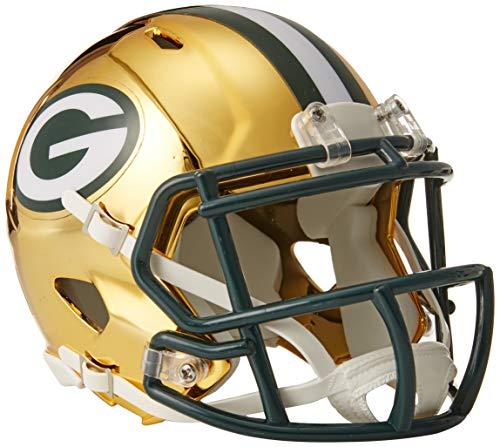 Riddell Chrome Alternate NFL Speed Mini Helmet Green Bay Packers Chrome Football Retail Box
