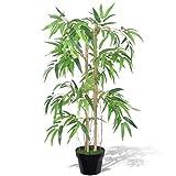 Dioche Artificial Bamboo Tree Plants, 90 cm Artificial Bamboo Artificial with Pot Home Decoration