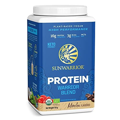 Sunwarrior - Warrior Blend, Plant Based, Raw Vegan Protein Powder with Peas & Hemp, Mocha, 30 Servings, 26.4 Ounce