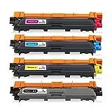ONINO Compatibles 4-Pack Cartouches de Toner TN-241 TN-245 Replacement pour HL-3140CW HL-3150CDN HL-3150 HL-3170CDW DCP-9015 DCP-9020CDW MFC-9130 MFC-9140CDN MFC-9130CW MFC-9330 MFC-9340CDW