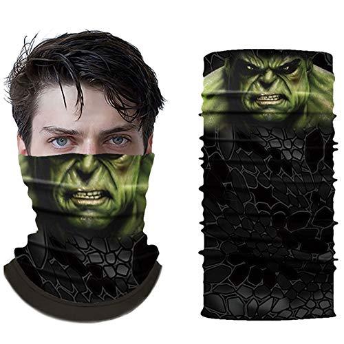 Super Hero Bandanas Hulk Mask Half Face Motorcycle Bandanas Dust Face Mask Fishing Scarf