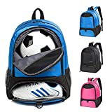 Youth Soccer Bags Soccer Backpack Basketball vollyball Football Bag& Backpack Kids Ages 6 and Up Sports Gym Bag