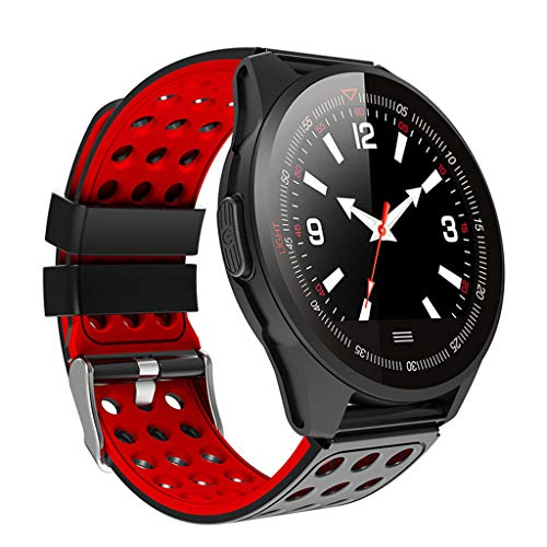 GYP New CK20 Color Screen Smart Watch, Heart Rate Monitoring Waterproof Step Counter Bluetooth Multi-Function Sports Watch,Red Montana