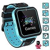 Montre Intelligente pour Enfants 7 Jeux - Musique MP3 Montre Enfants Fille Garçon, Appels Téléphoniques Montre pour Enfants avec 1GB SD Card, Caméra, Alarme, Calculatrice, Lampe de Poche Smart Watch