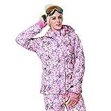 Morninganswer Las Mujeres con Capucha Impermeable al Aire Libre de la Chaqueta de esquí de Nieve a Prueba de Viento Caliente de la Capa Ropa