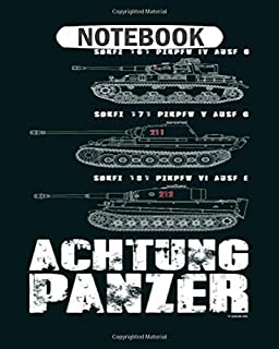 Notebook: achtung panzer College Ruled - 50 sheets, 100 pages - 8 x 10 inches