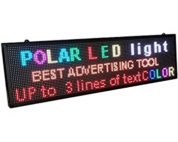 OUTDOOR 40  x 11  WiFi P6 high resolution full LED RGB color sign with high resolution P6 128x32 dots and new SMD technology Perfect solution for advertising