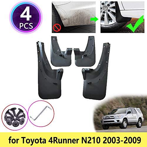 Para Toyota 4Runner Hilux Surf N210 SUV 2003-2009 Guardabarros que es un tablero de goma suave de alta calidad.El contenido de goma es grande, la elasticidad es grande, el plegado es resistente a la congelación, el agrietamiento no es fácil y el env...