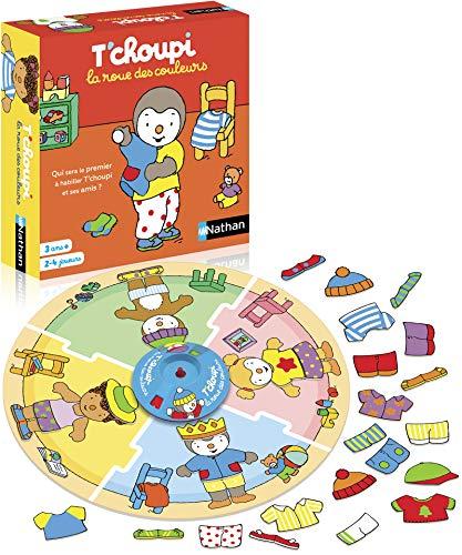 Nathan La Rueda de Colores T'choupi - Juego Educativo y cooperativo para niños a Partir de 3 años de 2 a 4 Jugadores