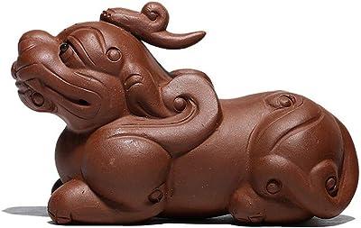JPYLY 茶ペット飾りブレイブ鉱石宜興紫の粘土ティー手作りアクセサリーティーメーカー砂ポット (Size : Purple mud)