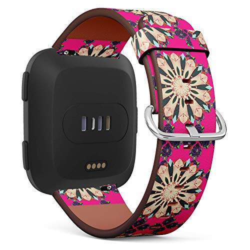 Compatible with Fitbit Versa,Versa 2, Versa SE, Versa Lite - Replacement Leather Wristband Watch Band Strap Bracelet for Men and Women - Baby Shower Menu Flyer Banner