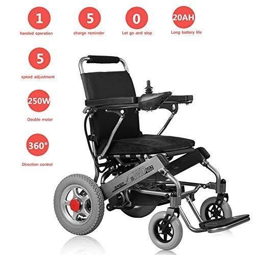 Elektrisch Rollstuhl Faltrollstuhl Leichter Rollstuhl mit Selbstantrieb-Portable-Premium Power Rollstuhl, faltbare Superleichtgewicht Doppelmotorflugzeug Bereit Folding Elektro-Rollstuhl manuell / ele