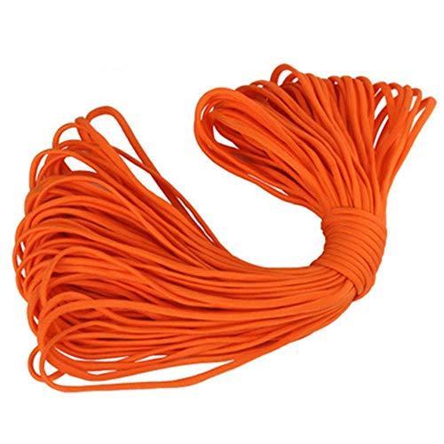 LLAAIT 12 Colores Paracord 5mm 31 / 100m 7 Núcleos de Soporte Cuerda Paracord para Cuerda de Salvamento de Cuerda de Exterior Tienda de campaña Cuerda Trenzada Pulsera, Naranja, 100m