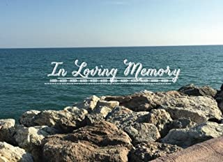 In Loving Memory: Message Book  Keepsake   Guest Book for Friends & Family to write in, 70 formatted pages, 8.25x6in