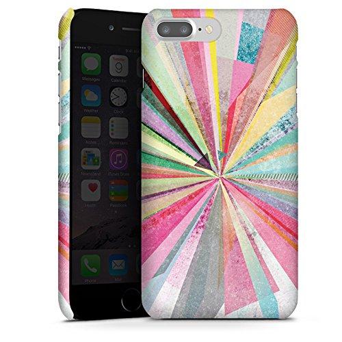 Custodia Premium Compatibile con Apple iPhone 7 Plus Cover per Smartphone Custodia Opaca Colorato Strisce Design