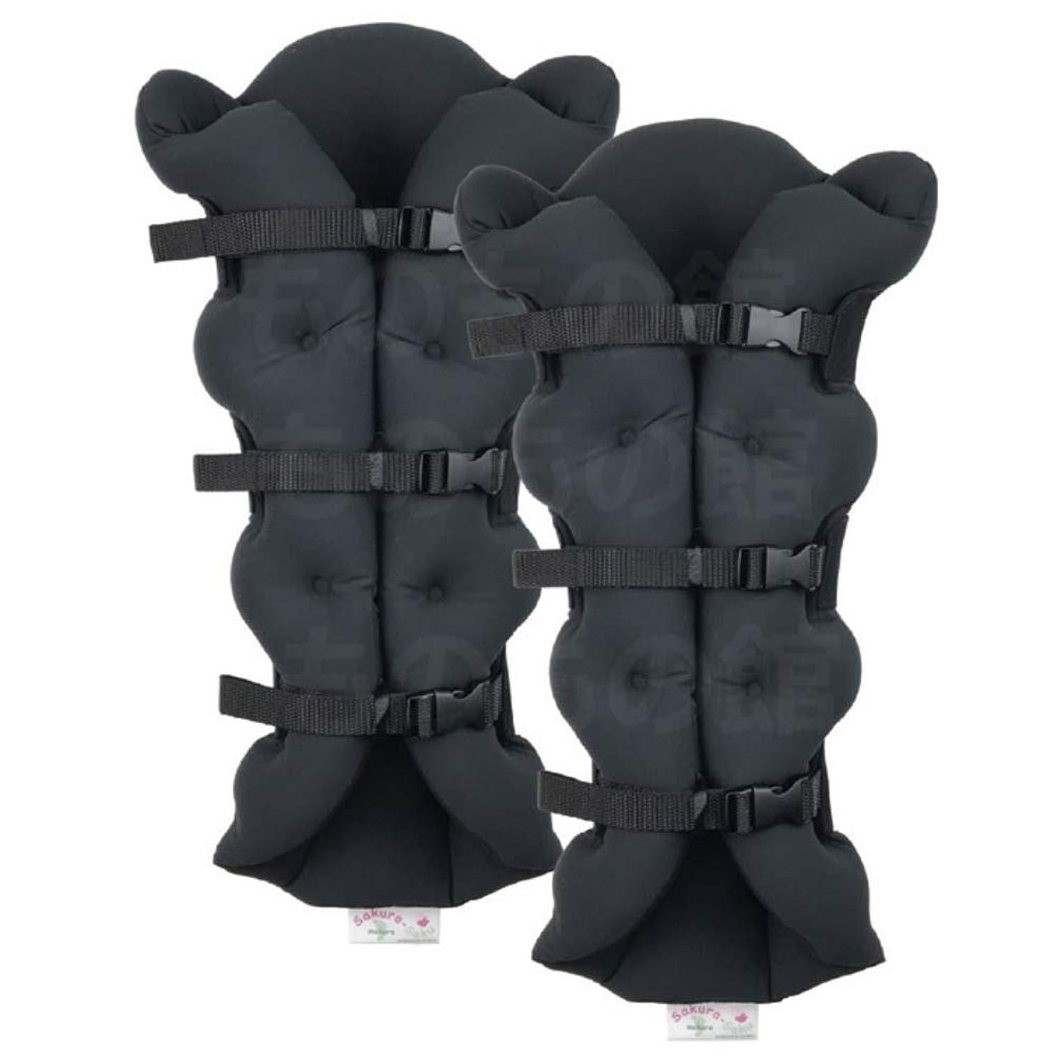 包帯サイズ潜水艦サクラ咲く足まくら EVOLUTION (両足セット) ブラック