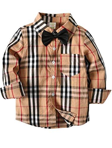 Odziezet Odziezet Baby Junge Hemd Plaid Knowbot Langarm Frühling Gentlemen Baumwolle Herbst Shirts 1-7 Jahre