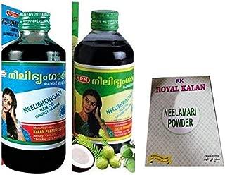 1 x Neelibringadi Nilibhringadi Hair Oil (Gingelly Oil), 1 x Nilibhringadi Neelibhringadi Coconut Oil, Prevents From Hair Loss 200ml each bottle, With Free RK Neelamari Indigo Leaf Powder 100gm