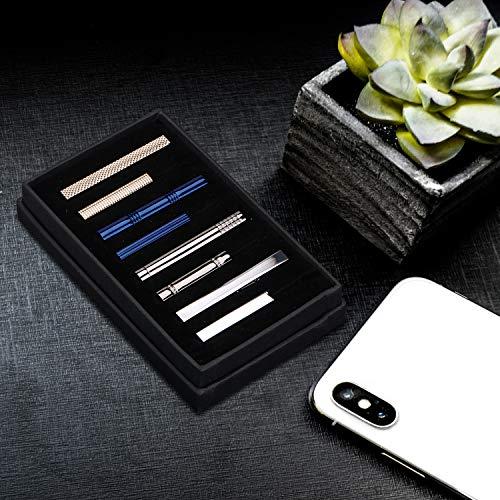 『DeDeStore カフスボタン ネクタイピン おしゃれ メンズ 高級 カフス ネクタイ 結婚式 ビジネス ギフトボックス付き 真鍮 (セット)』のトップ画像