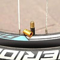k-outdoor バルブキャップ 米式用 タイヤバルブ 車・自転車・オートバイ用 軽量 高強度 10枚セット ゴールド