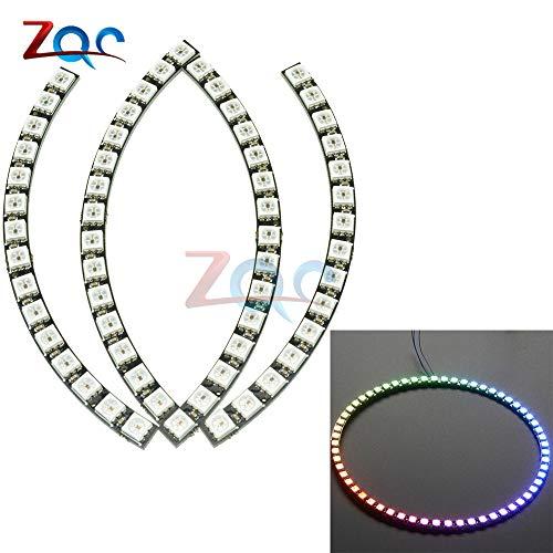 60 Bits Digital WS2812 RGB LED-Ring Vollfarbe HervorHebung WS2812 5050 SMD LEDs Strip-Modul Microcontroller DC 5V für Arduino