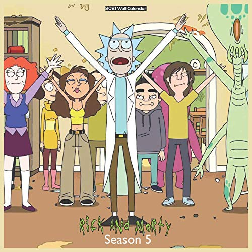 Rick And Morty Season 5 2021 Wall Calendar: Official TV show 2021 Calendar