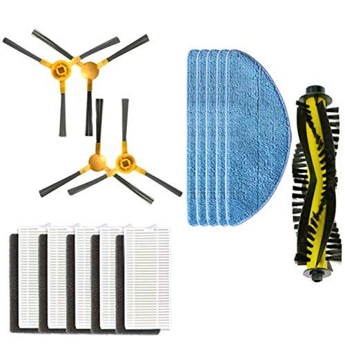 SODIAL Convient pour Les Accessoires de Robot de Balayage Neatsvor Brosse Principale X500 Brosse LatéRale Filtre Chiffon Brosse LatéRale Brosse à Rouler