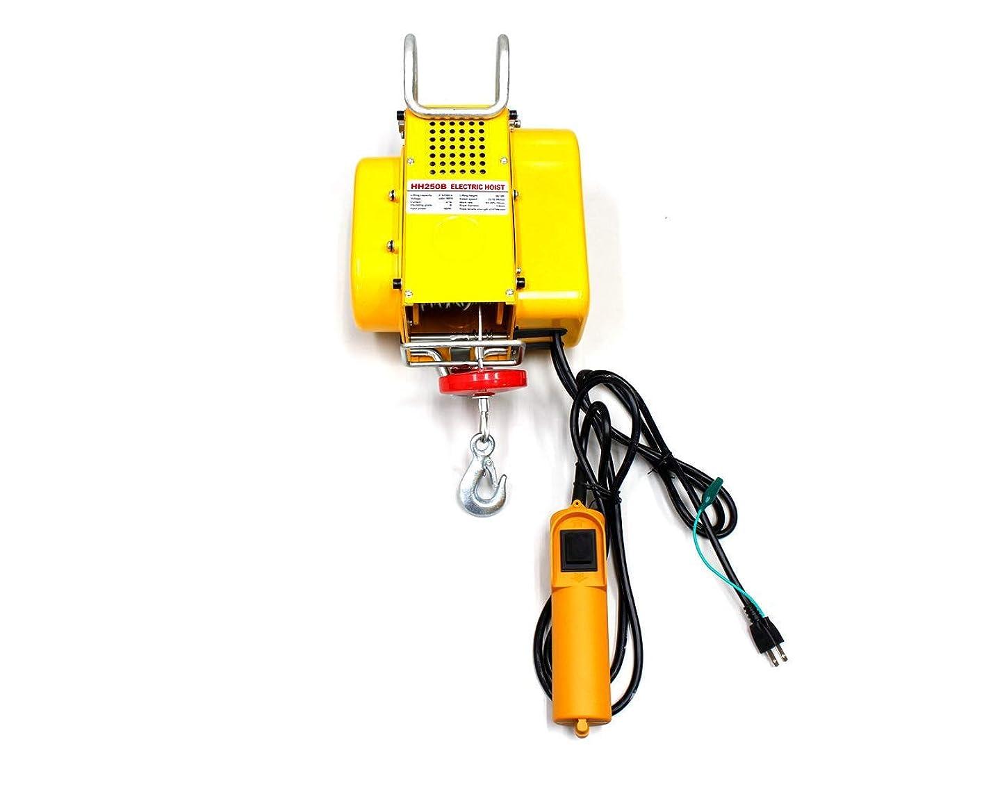 パン屋エンジニアリングメニュー電動ウインチ 強力小型ホイスト 家庭用100V対応 50Hz 最大能力250kg 出張先や現場ですぐに使える移動式 吊り下げタイプ 60日安心保証付