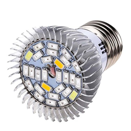 28 LED 28W E27 Grow Light Lamp Veg Flower Indoor Hydroponic Plant Full Spectrum,Tuscom (#1)