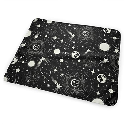 Solar System Black Bed Pad Washable Waterproof Urine Pads for Baby Toddler Children and Adults 31.5 X 25.5 inch