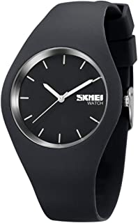TONSHEN Simple Fashion Analog Quartz Watch Rubber Band Casual Style Wrist Watches for Women Girl 12 Colours (Grey)