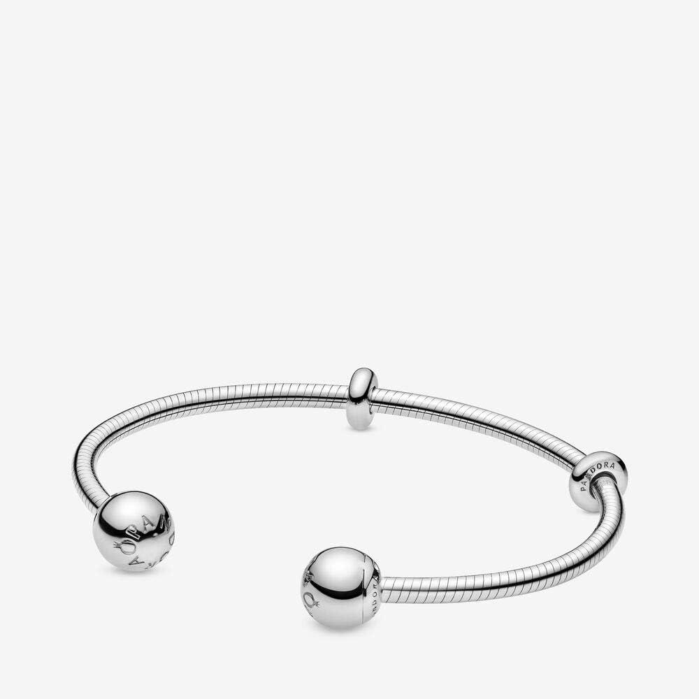 Pandora bracciale rigido aperto da donna in argento stearling 925 598291-1