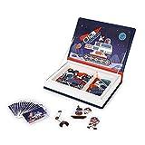 Janod- Magneti'Book Cosmos-Magnetic Educative Gioco 70 Pezzi-Sviluppo della motricità fine e dell'immaginazione-da 3 Anni, J02589