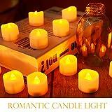 Led Teelicht Led Kerze, Adoric 12 x Led flammenlose Kerzen led Teelicht mit Timer elektrische flackernde batteriebetriebene Kerzen für Halloween Weihnachtsdeko Party Hochzeit, warm weiß - 4
