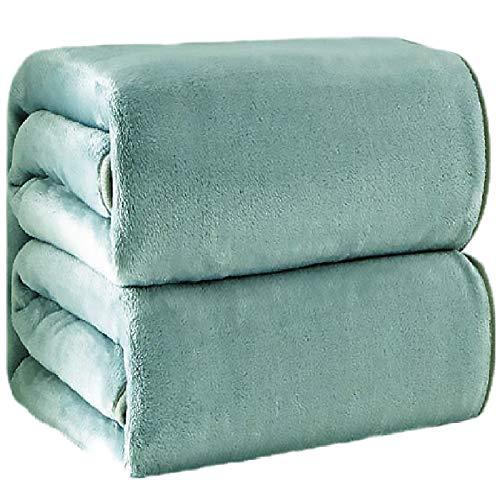 Coral Fleece Decke Für Bett Verdicken Flanell Decke Weiche Warme Sofadecke (Green,150x200cm)