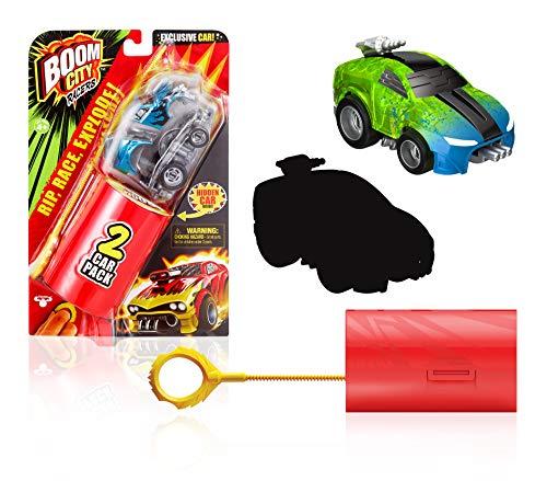 Boom City Racers, Two pack (Serie 1), 2 auto di cui 1 mistero, per fare la corsa ed esplodere all'impatto, giocattolo per bambini dai 4 anni, BMC04, BMC04000