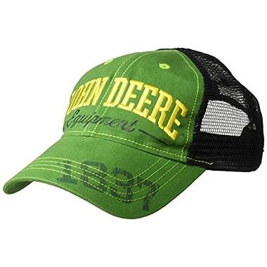 John Deere Boys' 5 Baseball Cap, Green/Black, Youth Ages 5 to 12
