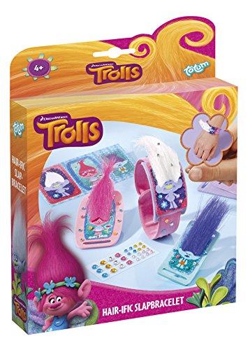 Trolls Bastel-Set: Armbänder aus Troll-Haaren – zum Selber Verzieren mit 3D-Stickern, Fell, Strass und Glitzer