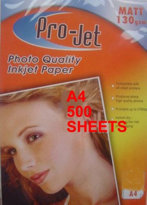 , MATT, A4, 130 g m ², 500 Blatt, kompatibel mit  allen Tintenstrahldruckern B007JXW950 | Zuverlässiger Ruf