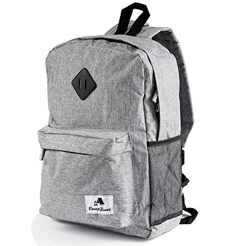 CampFeuer Freizeitrucksack   20 Liter   grau   Rucksack für Männer und Frauen   Backpack Schulrucksack